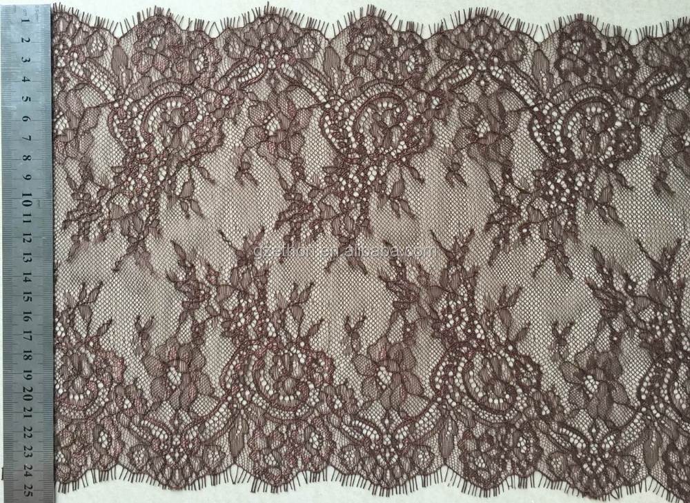 New design 100% nylon swiss lace with eyelash for dress