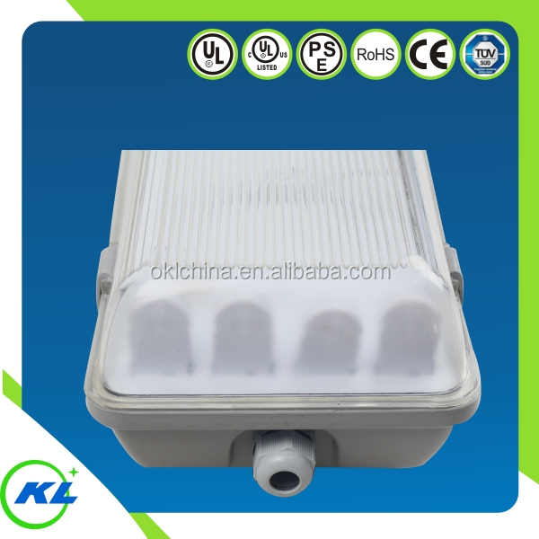 High quality UL cUL t8 4 lamp fixture Vapor Tight ip65 led fixture 2ft/4ft/8ft tube light cover