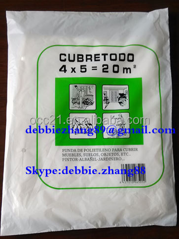 Plastic dust sheet /drop sheet <strong>PE</strong> material