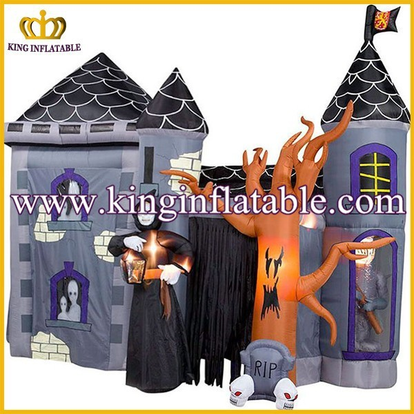 outdoor large inflatable halloween decoration product halloween inflatable haunted house - Outdoor Inflatable Halloween Decorations