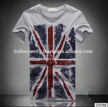 Flag printed new style high quality long t-shirt