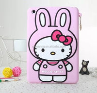 Smart silicone case skin cover for ipad mini 2, for ipad mini Kitty case