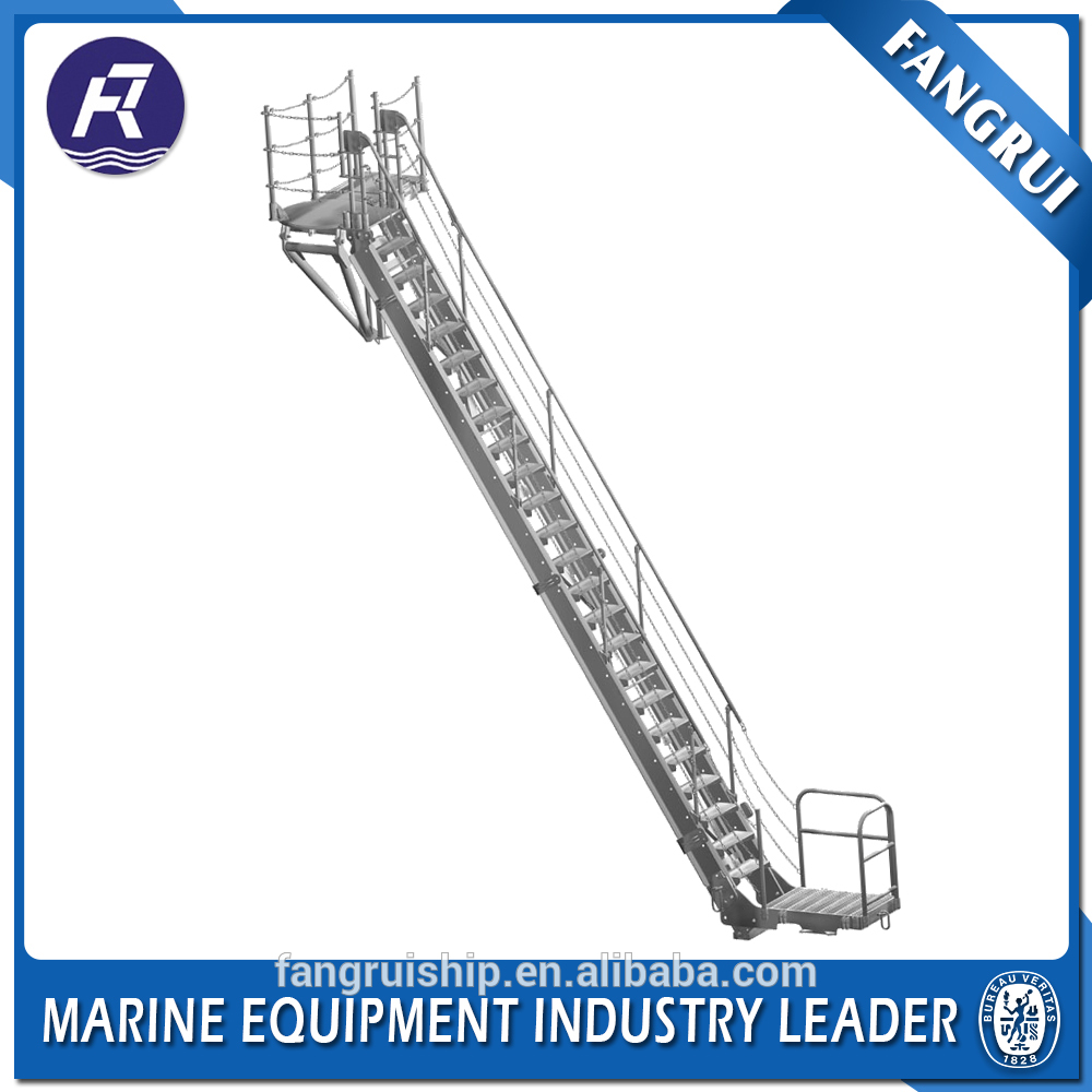 Super quality aluminum ship telescopic aluminum boat shore ladder gangways