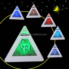 hot sale Pyramid calendar clock and alarm clock projector