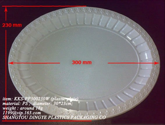 Excellent pp material disposable plastic cake sweet tray for party