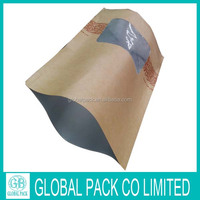 2016 new product ziplock stand up kraft paper bag for food package