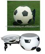 PU insulated plastic football cooler box,plastic ball shaped cooler