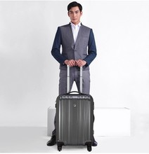 Gray 100% PC polycarbonate hardside cheap cabin luggage