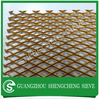 Golden painting wire mesh sheet plain steel expanded mesh for sale