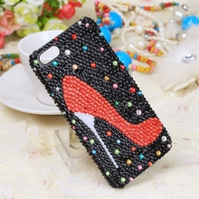 For iphone6 Jeweled High Heel Shoes Cute Bling Cell Phone Cases