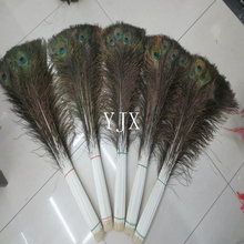 110-120m wholesale long indian artificial peacock feathers for carnival costumes