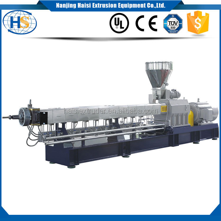 HS co-rotating washing line twin screw extruder raw material compounding granules pellet plastic extrusion