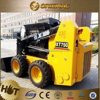 XCMG tires for skid steer loader XT750 vibratory roller for skid steer loader for sale