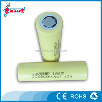 Original LG DBHE4 3.7V 2500mAh Li-ion rechargeable cylindrical cells for flash torch
