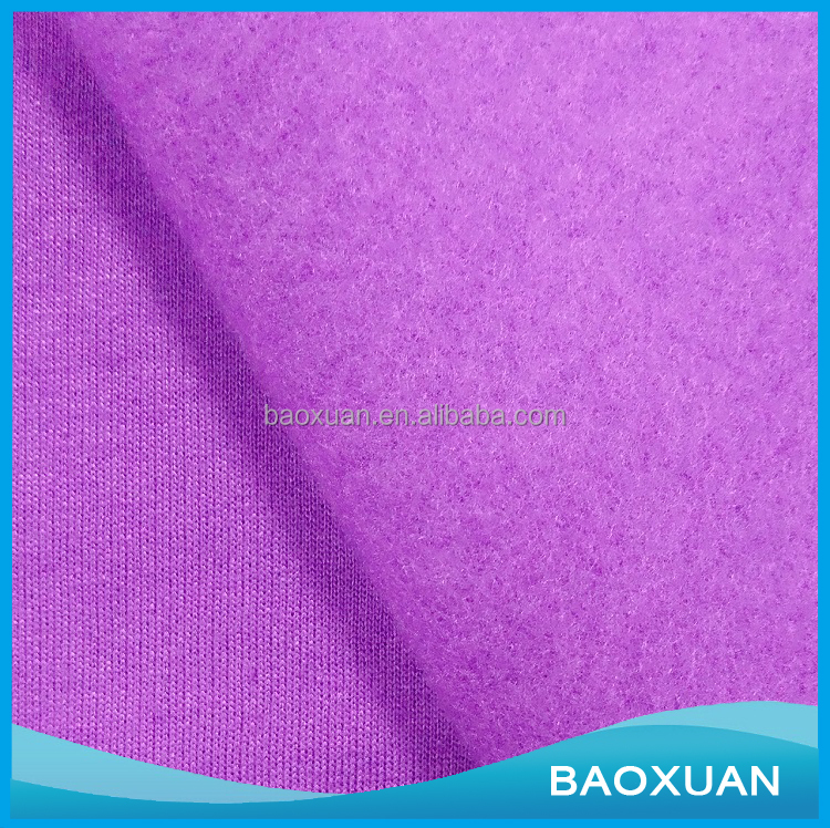 China Wholesale Soft 100 Cotton French Terry Fleece Knitted Textile Fabric For Blanket Hoodies Bathrobe Garment