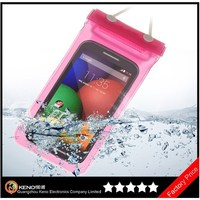 Keno Universal Transparent Touch Screen Waterproof Phone Case for Motorola Moto E