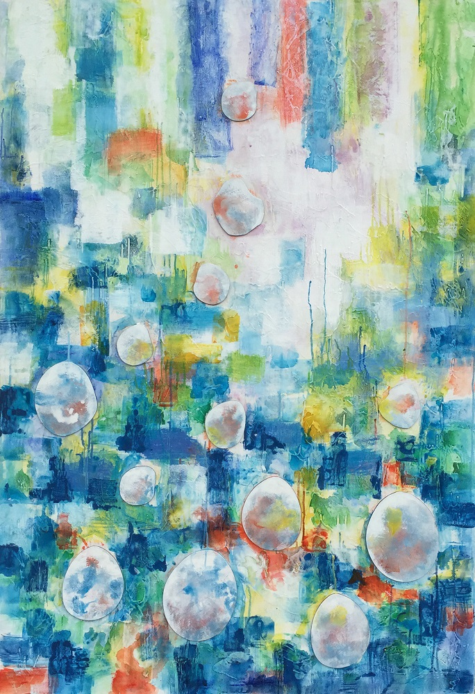 Famous Abstract Flower Glass Artwork Painting Natural Scenery Wall <strong>Picture</strong> For Living Room