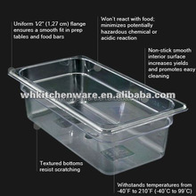 NSF Certification Transparent Food Grade plastic food storage containers