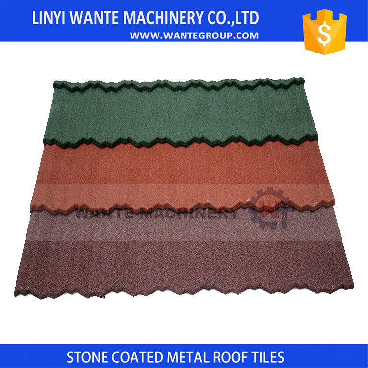 2017 new product China heat resistant Aluminum Zinc plate stone coated metal roof tile