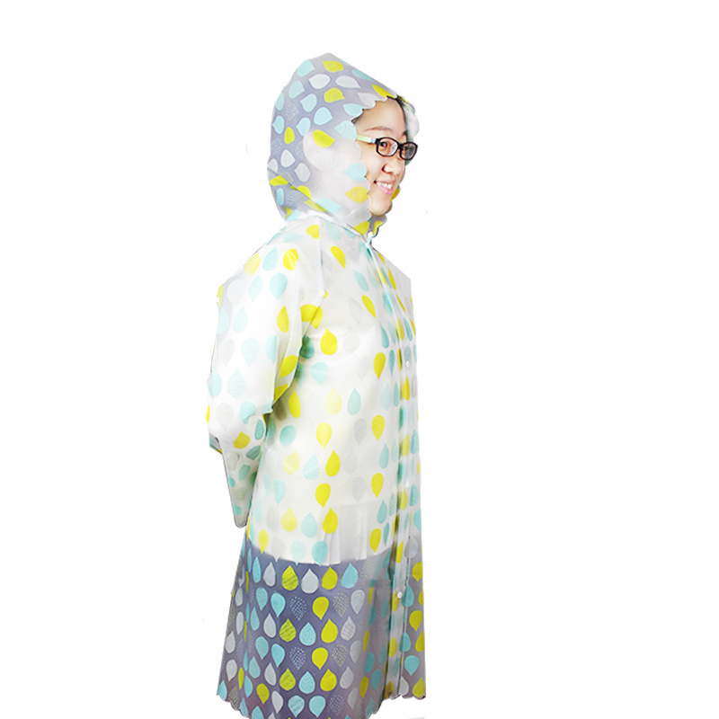 Best selling disposable transparent printed stars PEVA raincoat for adults