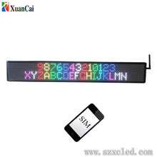 Hot sale multi language double line moving full color P10-16X128 led display control by phone SMS from China