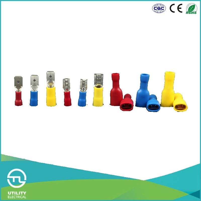 UTL China Supplier Cable Terminal Insulated FDD Wire Female Single Screw Electronic Terminal