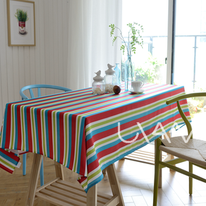 Colorful Stripes Pattern Rectangle Table Cloth