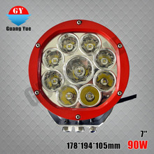 New Products! ! Super Bright Car Accessories floral border round 7inch 90W LED Work Light, LED Driving Light