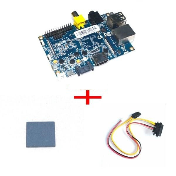 Banana Pi +Sata line+ heat sink Single Board Computer Dual Core 1GB RAM AllWinner A20 Chip as raspberry pi