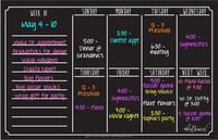 Magnetic Refrigerator Calendar Dry Erase Black Flexible Magnet Board
