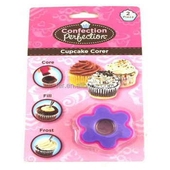 169854 Hot selling plastic cup cake corer/cake decorating