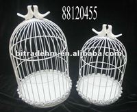 Garden decor metal bird cage
