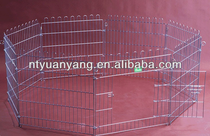 heavy folding wire 8 elements metal dog exercise pen dog playpen