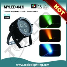 Colorful 5in1 RGBWA IP66 Mini Outdoor LED Laser Stage Lighting