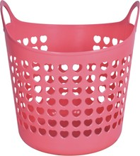 Household Plastic Colorful Laundry Hamper 38L/20L Dirty Clothes Plastic Basket