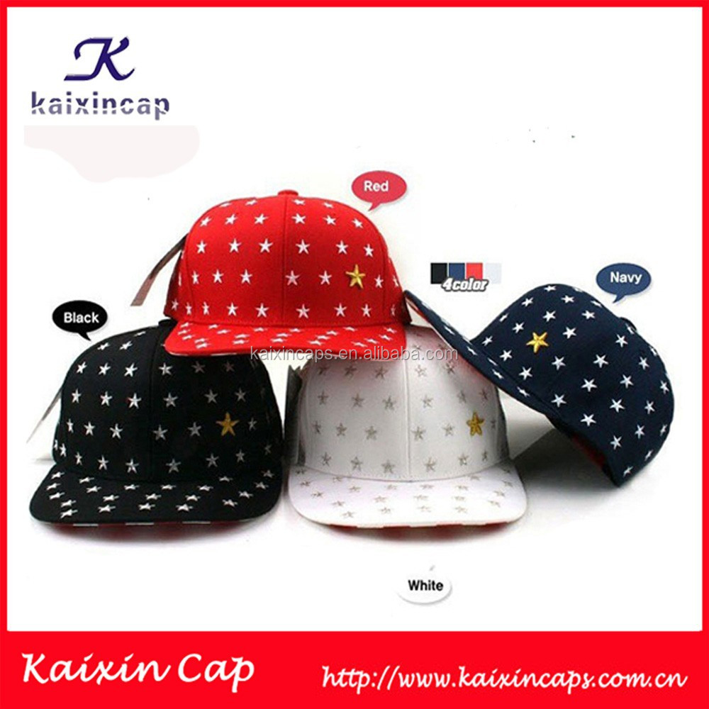 customize plain wholesaler design your own free colorful cotton printed stars snapback caps/hat bulk cheap hat/cap made in China