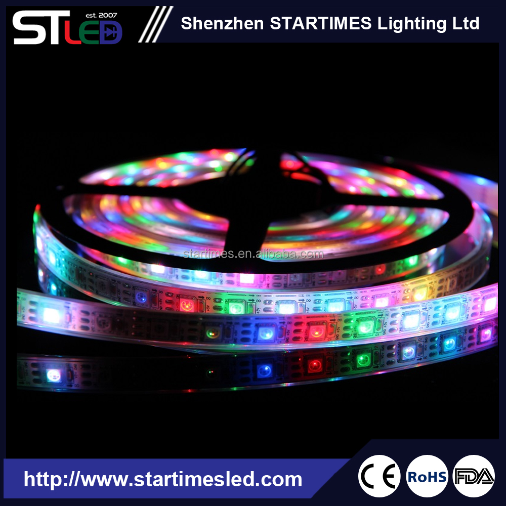 adressable pixel ws2811 rgb led strip digital light with dmx control