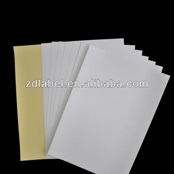 labels adhesive sticker a4 manufacturer