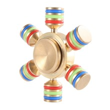 China Manufacturer Desk Toy Aluminum Alloy Rotating Naruto Fidget Spinner