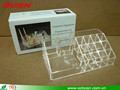Transparent top design desktop Perspex acrylic nail polish display