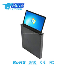 Office Tabletop Hidden LED screen montorized Monitor tv lift Mechanism for Conference