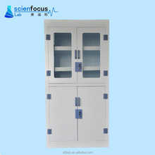 Laboratory PP chemical metal storage cabinet for strong acid alkali with adjustable shelves