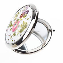 Hand painted flower mirror makeup compact makeup mirror