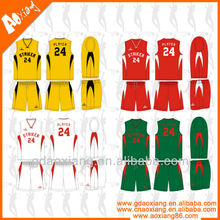 Olympic game basketball jersey uniform customized in Guangzhou ,China