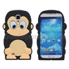 3D Monkey Pattern Soft Back Cover Silicon Case for Samsung Galaxy S4 i9500