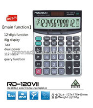 calculator with backlight Desktop Calculator rd-120Vii solar calulator