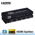 HDMI Splitter 1 in 4 out - HDMI Splitters for for Full HD 1080 Support 3D Hdmi Splitter Box with Power Adapter