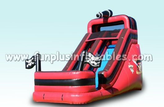 Red inflatable pirate ship slide hot sale F4144