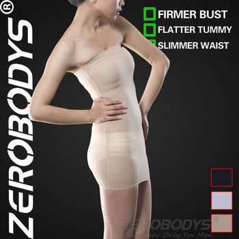 ZEROBODYS Incredible Womens Body Shaper Slimming Tube Dress 005 BE Fat Burning Body Wraps Women Butt Lifter Sexy Bodysuit