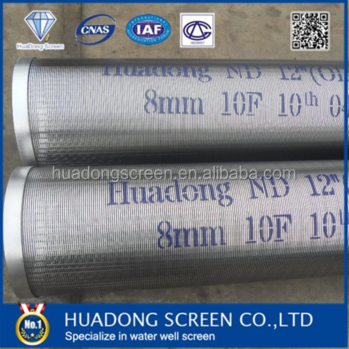 Stainless steel well screen tube/ Johnson screen filter pipe